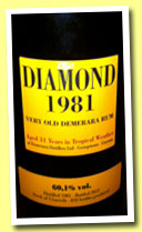Diamond 31 yo 1981/2012 (60.1%, Velier, casks #10536-37-39, 810 bottles)