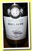 Caperdonich 1996/2013 'Dunes An Oir' (58.6%, Malts of Scotland for Van Zuylen, bourbon hogshead, cask #MoS 13025, 276 bottles)