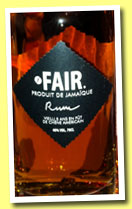Fair. 5 yo 'Jamaique' (40%, Fair. Spirits, Jamaica, 2013)