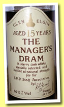 Glen Elgin 15 yo (60.2%, OB, Manager's Dram, 1988)