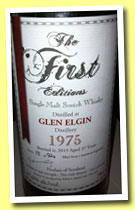Glen Elgin 37 yo 1975/2013 (47.6%, The First Editions, bourbon hogshead, 84 bottles)
