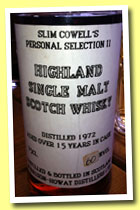 Glen Garioch Highland 15 yo 1972 (60%, Slim Cowell's Personal Selection II, +/-1987)