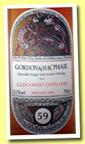 Glen Grant 59 yo 1954/2013 (53.5%, Gordon & MacPhail for La Maison du Whisky, Book of Kells, first fill sherry butt, 120 bottles)