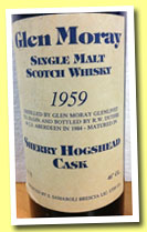 Glen Moray 25 yo 1959/1984 (46%, Samaroli, sherry hogshead, 240 bottles)