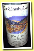 Glen Scotia 20 yo 1992/2012 (50.6%, The Whisky Cask, bourbon hogshead)