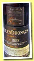 Glendronach 20 yo 1993/2013 (52.3%, OB for The Whisky Agency, Oloroso Sherry Butt, cask #4, 664 bottles)