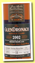 Glendronach 11 yo 2002/2013 (57.2%, OB, for Whiskybase, oloroso sherry butt, cask #2751, 701 bottles)