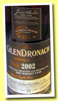 Glendronach 10 yo 2002/2013 (52.8%, OB for The Whisky Fair, Pedro Ximenez Sherry Puncheon, cask #710, 665 bottles)