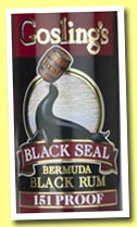 Gosling's Black Seal 151 Proof (75.5%, OB, Bermuda, +/-2013)
