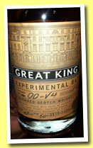 Great King St. 'Experimental Batch 00-V4' (43%, Compass Box, blend, sherry, 3439 bottles, 2013)