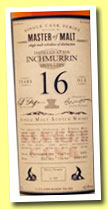 Inchmurrin 16 yo 1996/2013 (62.8%, Master of Malt, sherry butt, 428 bottles)