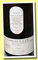 Lagavulin 1995/2013 'Islay Jazz Festival' (51.9%, OB, sherry butts)