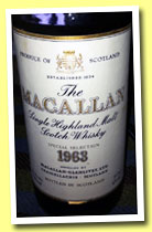 Macallan 1963 (43%, OB, UK, 75.7cl, twist cap, +/-1978)