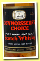 Macduff 16 yo 1963 (70° proof, Gordon & MacPhail, Connoisseur's Choice, black label, +/-1979)