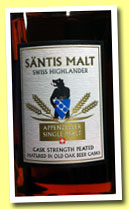 Säntis 'Cask Strength Peated' (52%, OB, Switzerland, +/-2012)