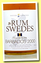 Barbados 2000/2013 (58.8%, The Rum Swedes, 215 bottles)