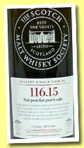 Yoichi 25 yo 1983/2009 (58.9%, Scotch Malt Whisky Society, Japanese oak, #116.15, 'Not peat for peat's sake', 169 bottles)